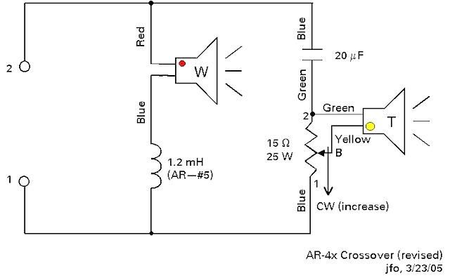 ar3 speaker crossover schematic
