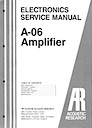 A-06 Amplifier Service Manual pg1