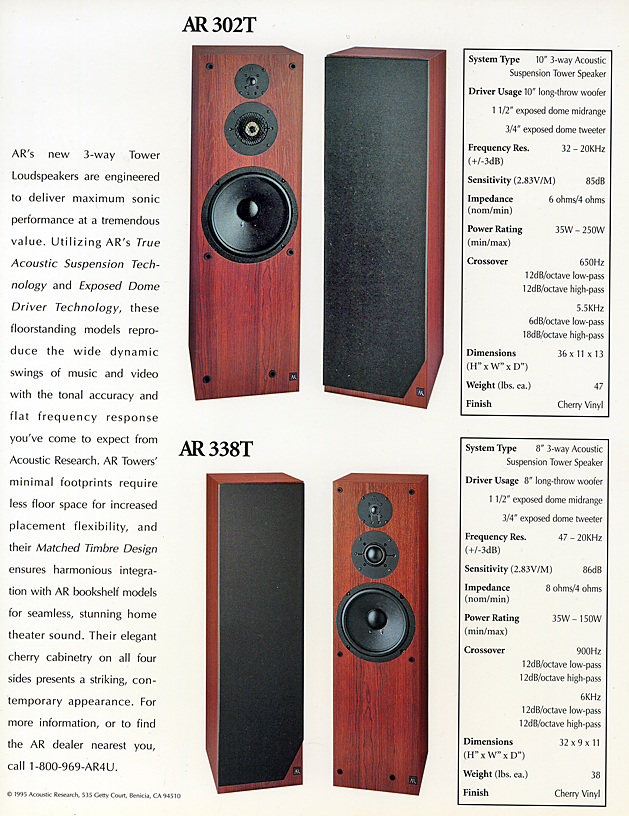 AR 8T & AR 8T Brochure pg8  The Classic Speaker Pages