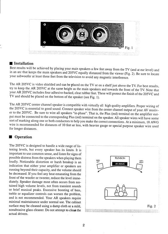 AR 205vc Manual Page 3