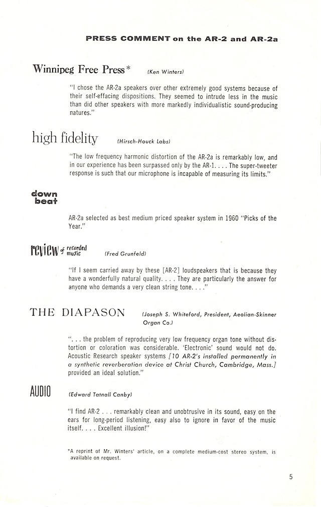 AR-3 and turntable page 3