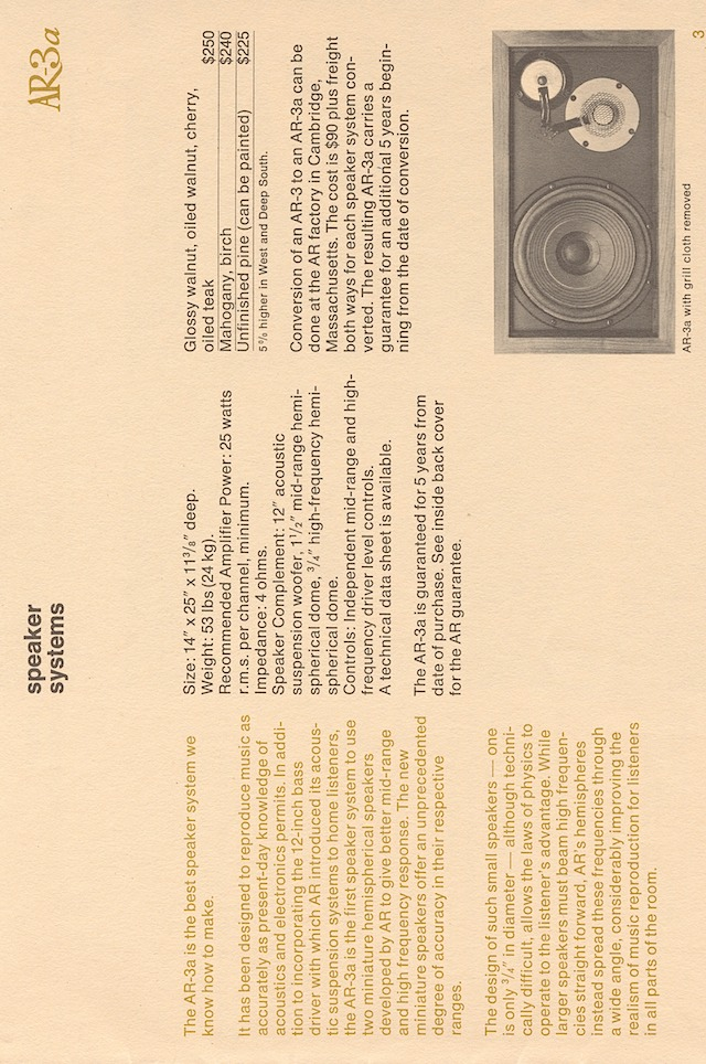 ar hifi components late'60s page 3