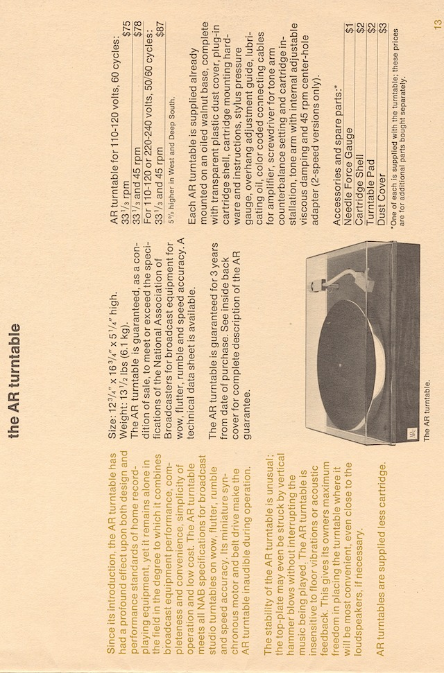ar hifi components late'60s page 15