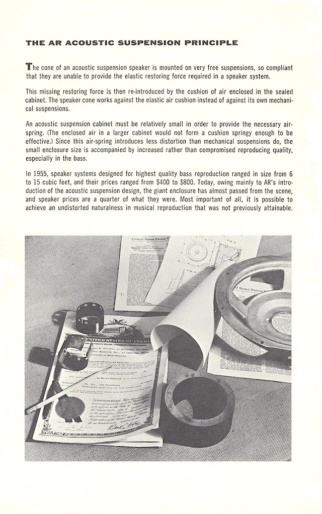 AR loudspeakers early 1960s page 2