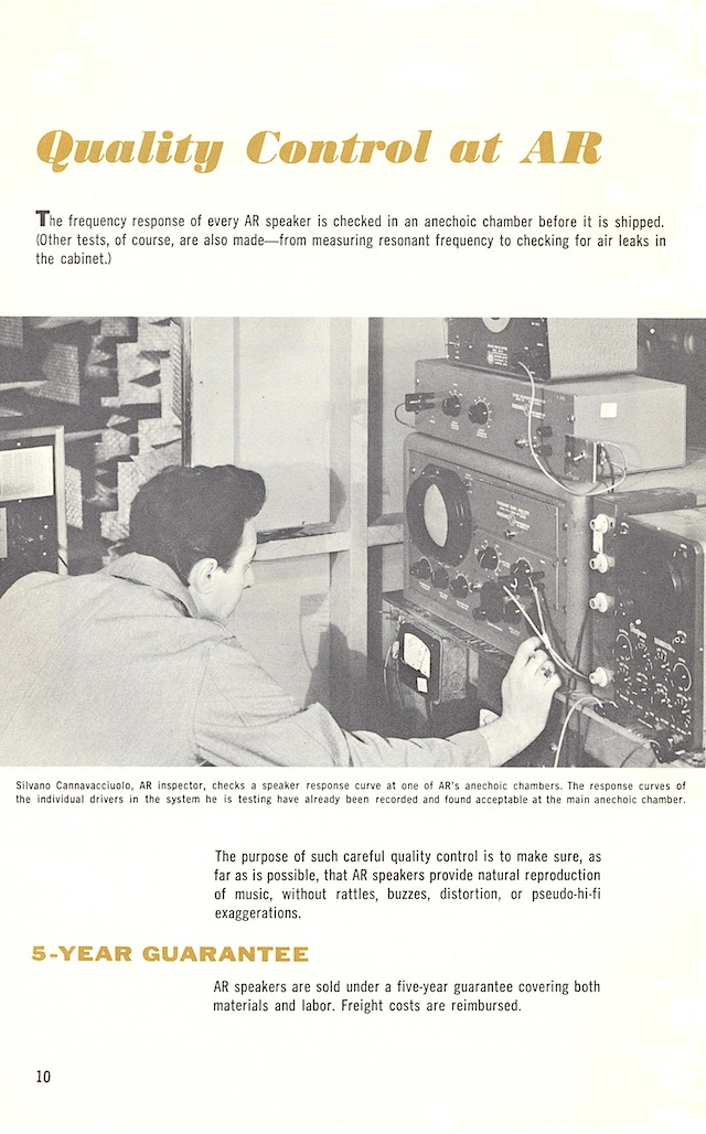 AR loudspeakers early 1960s page 10