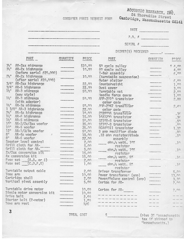AR Parts Packet August 1 19770008