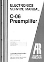 C-06 Pre-Amplifier Service Manual pg1