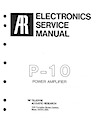 P-10 Power Amplifier Service Manual pg1
