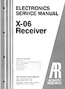 X-06 Receiver Service Manual pg1