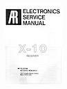 X-10 Receiver Service Manual pg1